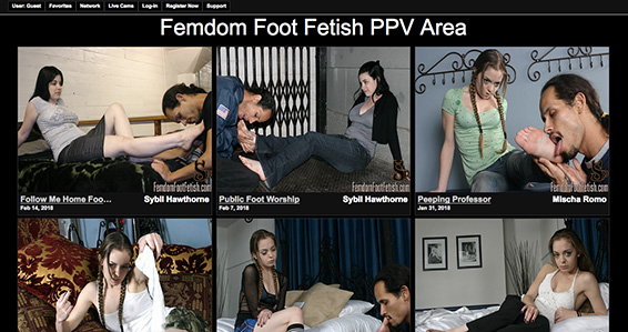 Amazing porn website to enjoy some some fine foot fetish quality porn